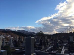 H27墓地公園の初雪