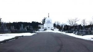 H28墓地公園の雪どけ①