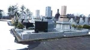 H28墓地公園の雪どけ③