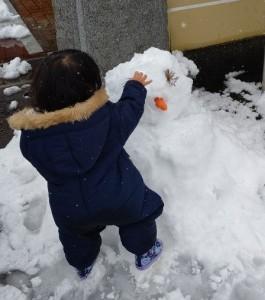 山門_雪だるま